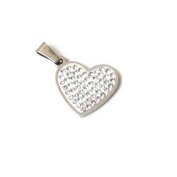 Kalp Heart Çelik Kolye Ucu