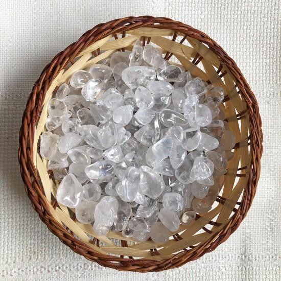 10 Adet Ham Doğal Kristal Kuvars Taşı (1-2 CM )- KLCKT0097