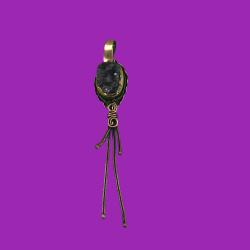 Ametist Taşlı Bronz Kolye Ucu - KLCKL0008