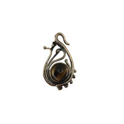 Kaplangözü Taşlı Bronz Kolye Ucu - KLCKL0004