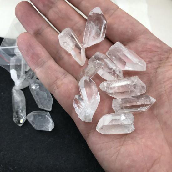 5 Adet 2-3 CM Ham Doğal Şeffaf Kristal Kuvars Taşı - KLCKT0059